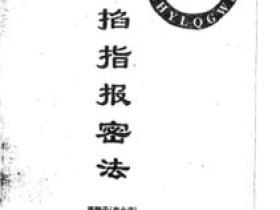 史小文-掐指报密法