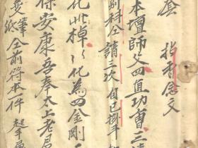 闾山古本手抄法本《驱瘟瘴诸符法册》207页电子版