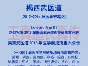 玉真道长真传2012-2014年武医道医学面授笔记227页电子版