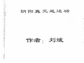 真传秘术《阴阳真元返还功》155页电子版