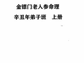 金镖门老人参盲派命理辛丑年弟子班教学笔记上中下三册近千页电子版